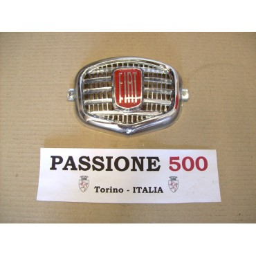 CHROMED PLASTIC CENTRAL EMBLEM FIAT 500 N D