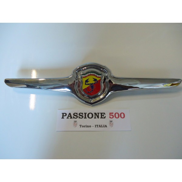 ABARTH FRONT EMBLEME IN CHROMED METAL FIAT 500 L R