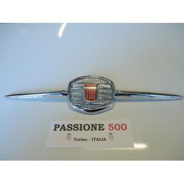 CHROMED PLASTIC FRONT EMBLEM FIAT 500 F