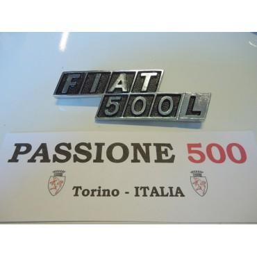 CHROMED REAR EMBLEM IN ZAMAK FIAT 500 L