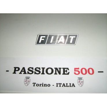 PLASTIC FRONT EMBLEM FIAT 500 R