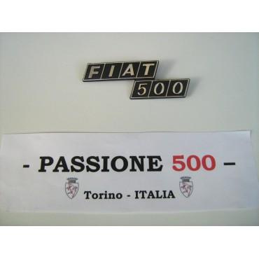 REAR EMBLEM IN PLASTIC FIAT 500 F R