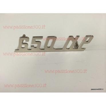 GIANNINI EMBLEM 650 NP IN CHROMED METAL FOR DASHBOARD 70x17 mm FIAT 500