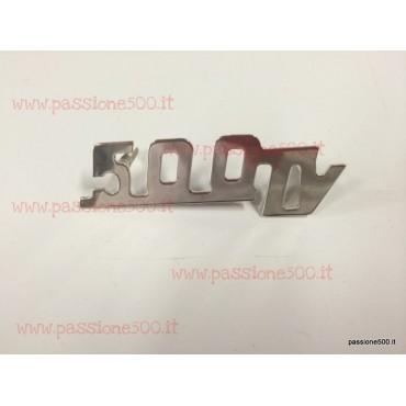 GIANNINI EMBLEM 500TV IN CHROMED METAL FOR DASHBOARD 60x20 mm FIAT 500