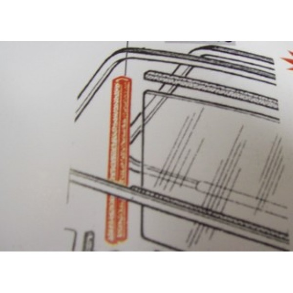 PAIR OF GASKET ON THE ALUMINIUM ROD OF QUARTER VENT - FOR DOOR GLASS FIAT 500