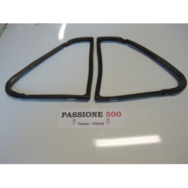 COUPLE OF QUARTER VENT GASKET FOR FIAT 500 D F L R GIARDINIERA