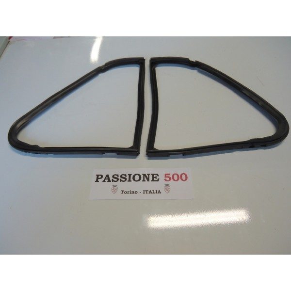 COUPLE OF QUARTER VENT GASKET FOR FIAT 500 D F L R GIARDINIERA
