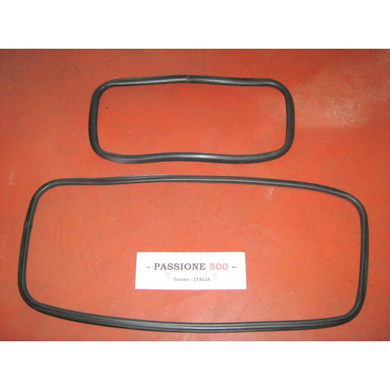 KIT OF FRONT AND REAR WINDSHIELD GASKET FOR FIAT 500 F R