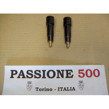 COUPLE OF BAKELITE SPARK PLUG EXTENSION FIAT 500 - spark plug cable 7 mm
