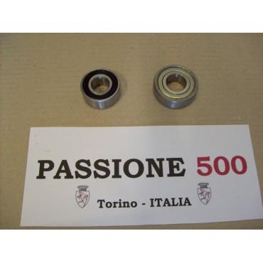 COUPLE OF BEARINGS FOR ALTERNATOR FIAT 500 - 126