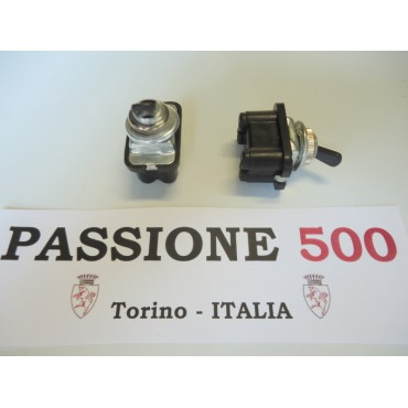 SWITCH WITH ROUNDED CONNECTORS FOR WINDSHIELD WIPER FIAT 500 F GIARD UNTIL 1968 -