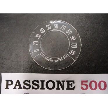 INSTRUMENT CLUSTER PLANE GLASS 110 KM/H FIAT 500 D 1964