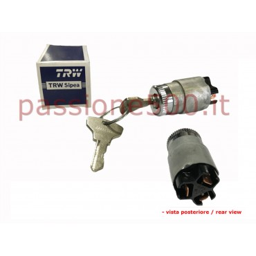 SIPEA ORIGNAL ENGINE STARTING SWITCH WITH CHROMED RING - PLANE CONNECTORS - FIAT 500 N D F