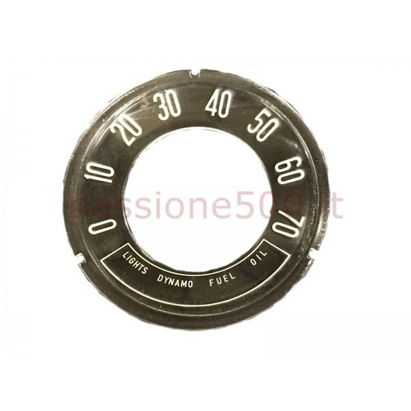 INSTRUMENT CLUSTER CONCAVE GLASS 70 MPH FIAT 500 N