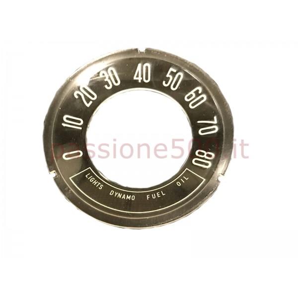 INSTRUMENT CLUSTER CONCAVE GLASS 80 MPH FIAT 500 N D