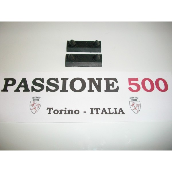 COUPLE OF RUBBER PAD FOR BRAKE HAND CABLE FIAT 500 N D F L R