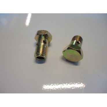 COUPLE OF BOLT FOR HOSE AND BRAKE CYLINDER UNION FIAT 500