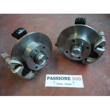 COUPLE OF FRONT BRAKE DISC KIT  - HIGH QUALITY - FIAT 500 N D F L R