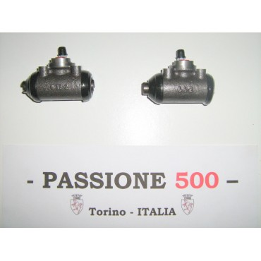 COUPLE OF FRONT WHEEL BRAKE CYLINDER FIAT 500 R