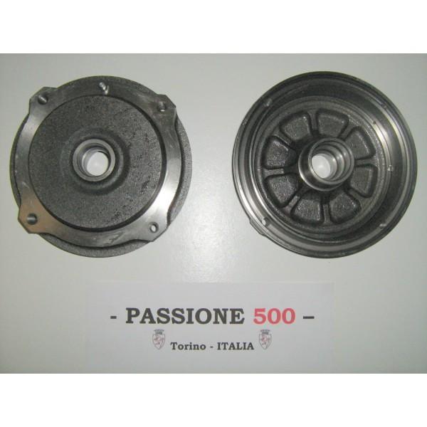 COUPLE OF FRONT BRAKE DRUM FIAT 500 N D F L R