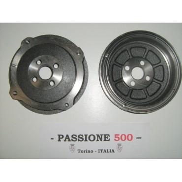 COUPLE OF REAR BRAKE DRUM FIAT 500 N D F L R