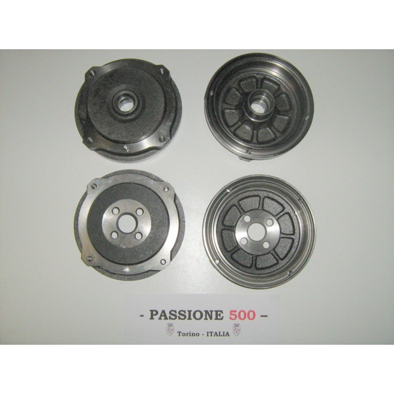 KIT OF FRONT AND REAR BRAKE DRUM FIAT 500 N D F L R