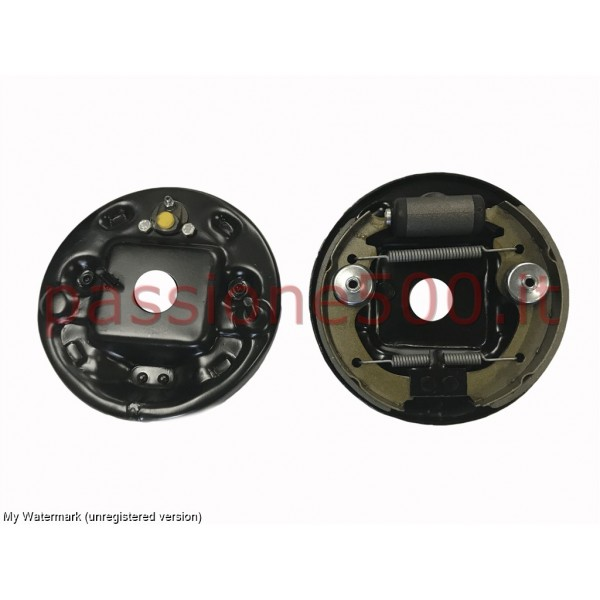 PAIR OF COMPLETE FRONT BRAKE SHOE PLATE FIAT 500 N D F L R