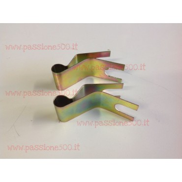 COUPLE OF FIXING BRACKETS FOR BRAKE HAND CABLE FIAT 500