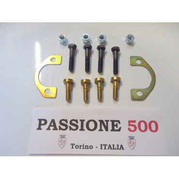 COMPLETE FIXING KIT FOR 2 EXHAUST MANIFOLDS FIAT 500 - 126