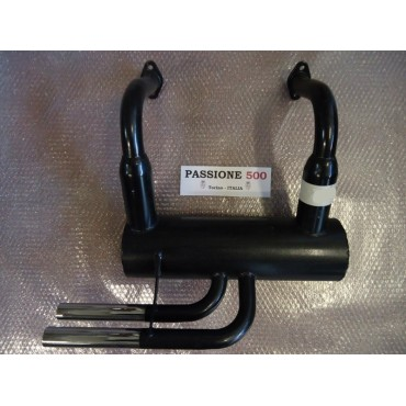 "SPORT MUFFLER WITH 2 CHROMED TIP TYPE ""RECORD MONZA"" FIAT 500 F L"