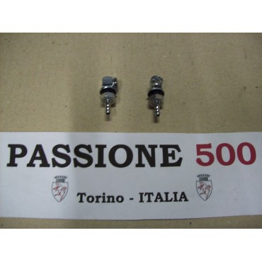COUPLE OF CHROMED WIPER NOZZLES FIAT 500 N D
