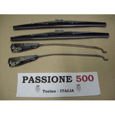 COMPLETE KIT OF WIPER ARMS AND BLADES IN INOX STEEL FIAT 500 N