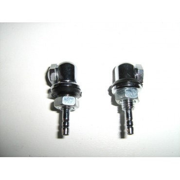 COUPLE OF CHROMED WIPER NOZZLES FIAT 500 F L R GIARD