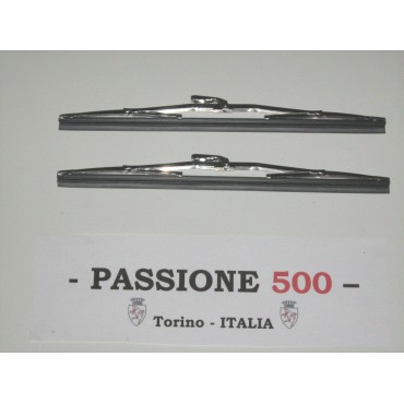 COUPLE OF WIPER BLADES IN INOX STEEL FIAT 500 F L R GIARD