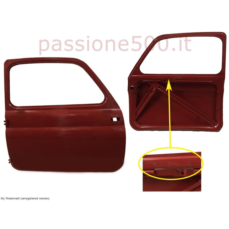 RIGHT DOOR FOR FIAT 500 D 1° SERIES - UNTIL CHASSIS No. 341.070
