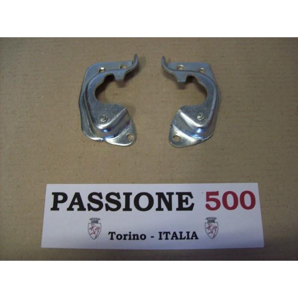 PAIR OF STRIKE PLATE FIAT 500 F L R