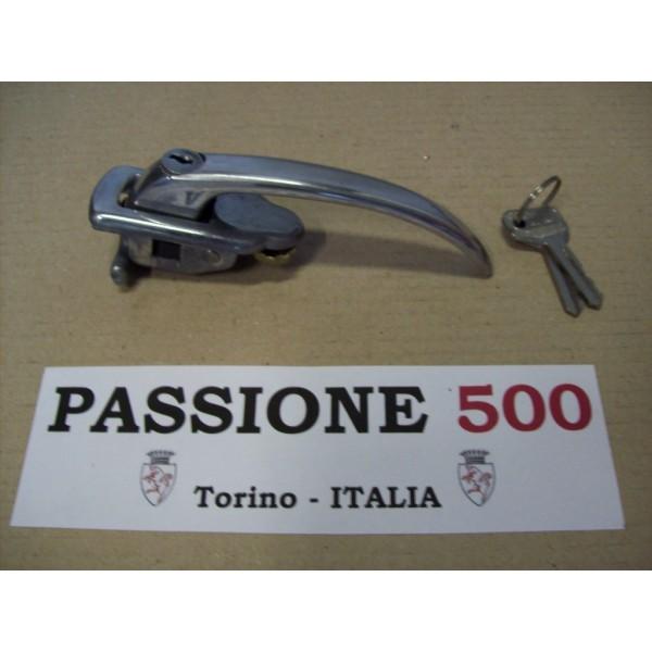 LEFT ALUMINIUM DOOR HANDLE WITH KEYS FOR FIAT 500 N D GIARD