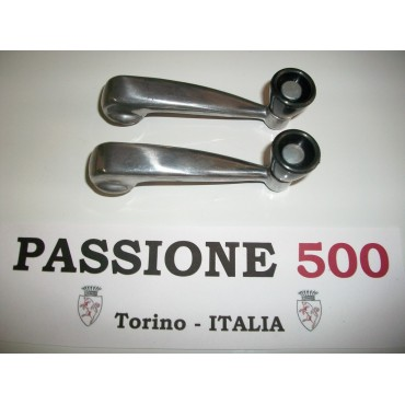 COUPLE OF ALUMINIUM WINDOW HANDLES FOR FIAT 500 N D GIARD
