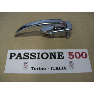 RIGHT CHROME DOOR HANDLE FOR AUTOBIANCHI 500 GIARDINIERA