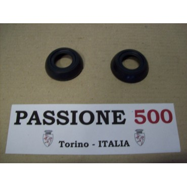 COUPLE OF BLACK RINGS FOR WINDOW HANDLES FIAT 500 F R
