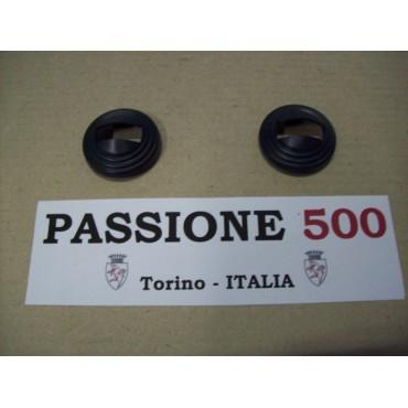 COUPLE OF BLACK RINGS FOR OPENER DOOR HANDLES FIAT 500 R