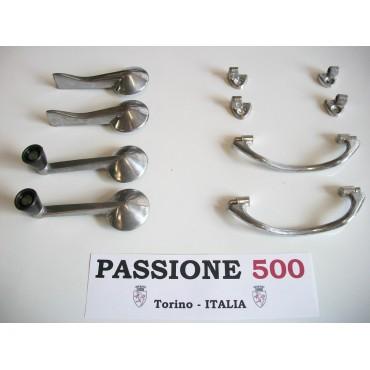 ALUMINIUM INTERNAL HANDLES KIT FOR FIAT 500 F