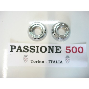 COUPLE OF CHROME RINGS FOR WINDOW HANDLES FIAT 500 L