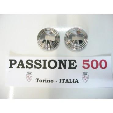 COUPLE OF CHROME RINGS FOR OPENER DOOR HANDLES FIAT 500 L