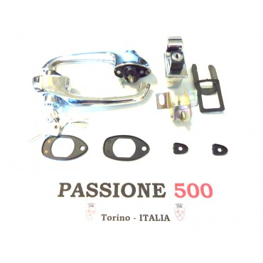 EXTERNAL DOOR HANDLE AND BONNET LOCK  AND GASKET FIAT 500 F L R - HIGH QUALITY