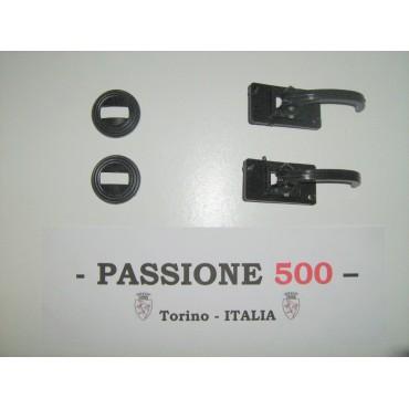 BLACK DOOR OPENER INSIDE LEVERS WITH RINGS FIAT 500 R