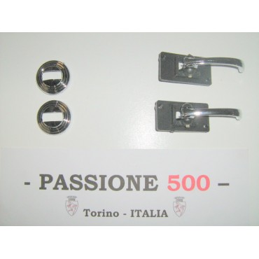 CHROME DOOR OPENER INSIDE LEVERS WITH RINGS FIAT 500 L