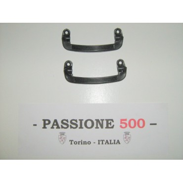 COUPLE OF BLACK DOOR CLOSING HANDLES FIAT 500 F R
