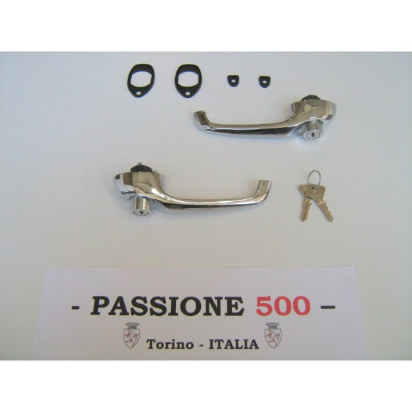 EXTERNAL DOOR HANDLE LOCK WITH KEYS AND GASKET FIAT 500 F L R