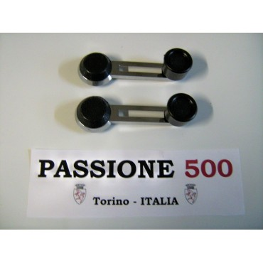 COUPLE OF CHROME WINDOW HANDLES FOR FIAT 500 L